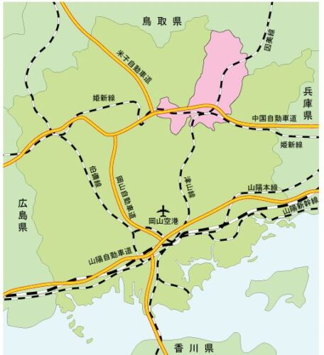 津山市マップ