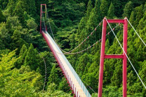 燕市の千眼堂吊り橋